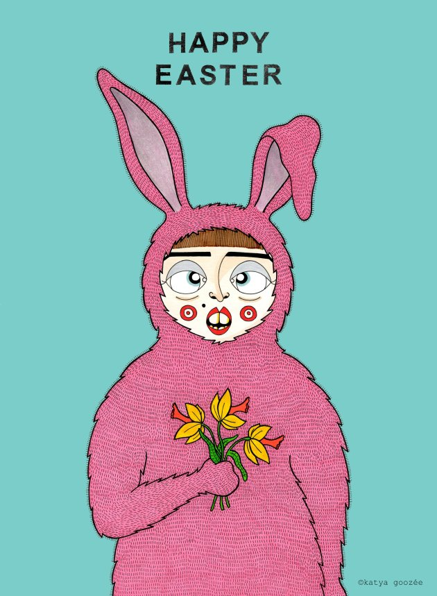 Easter bunny 17-001